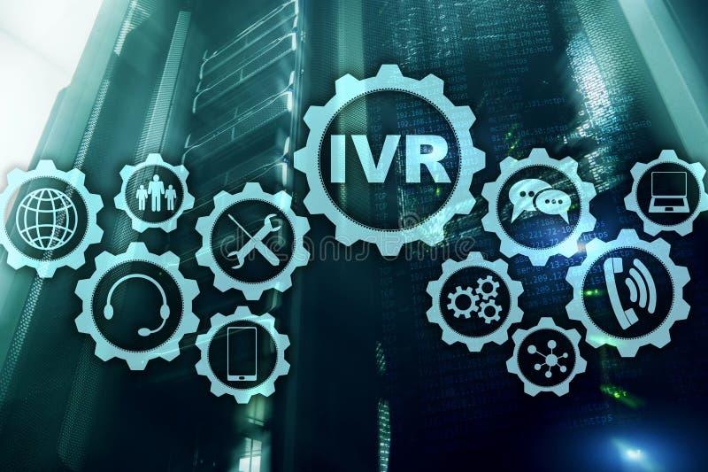 Голосовой ответ IVR взаимодействующий Концепция дела центра телефонного обслуживания стоковые изображения
