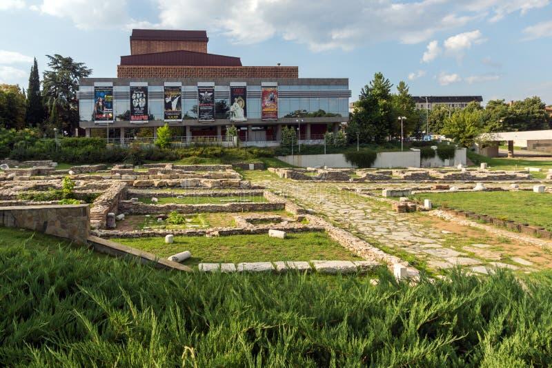 Государственная опера в центре города Stara Zagora, Болгарии стоковое фото rf
