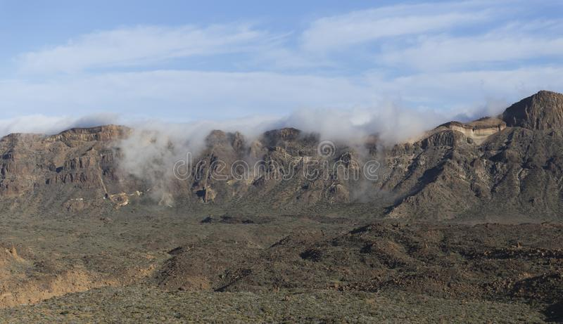 Гора Anaga в Тенерифе, Испании, Европе стоковые фотографии rf