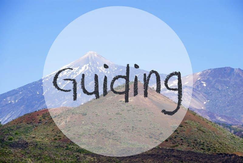 Гора Vulcano, текст направляя, красивый пейзаж природы стоковое фото rf