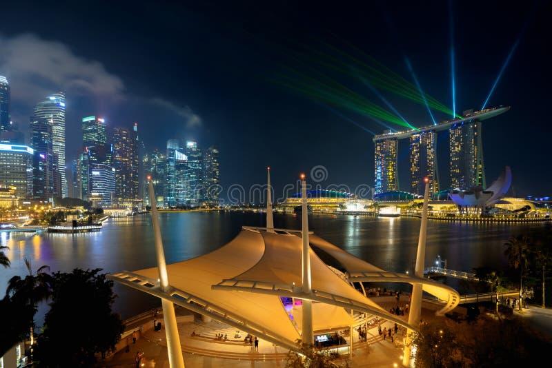 Горизонт города Сингапура стоковые изображения