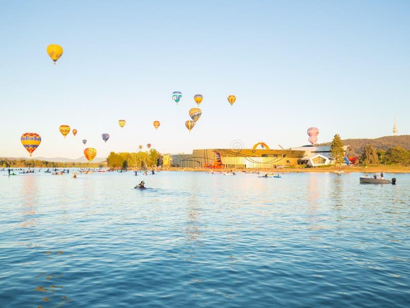 Горячие воздушные шары Канберра стоковые изображения