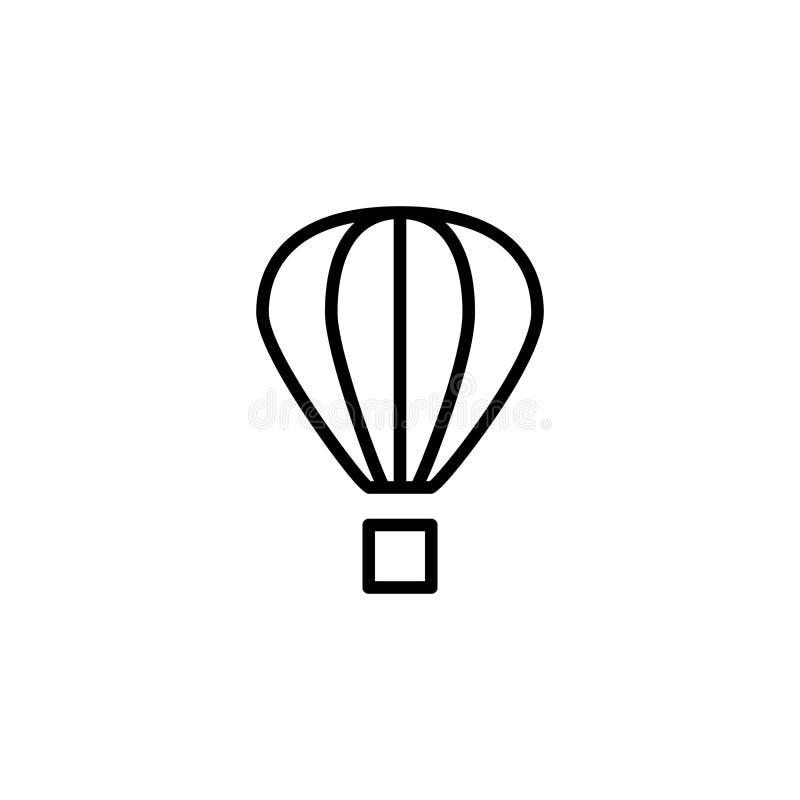 Горячий запас значка воздушного шара вектора транспорта изолированного кораблями бесплатная иллюстрация