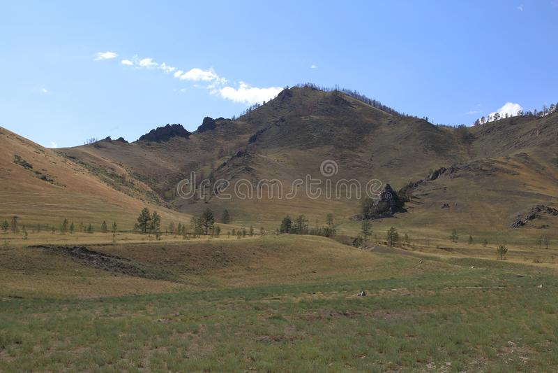 Горы гор Barguzin, этой долины реки Barguzin стоковая фотография