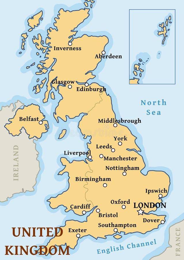 Города Великобритании составляют карту бесплатная иллюстрация