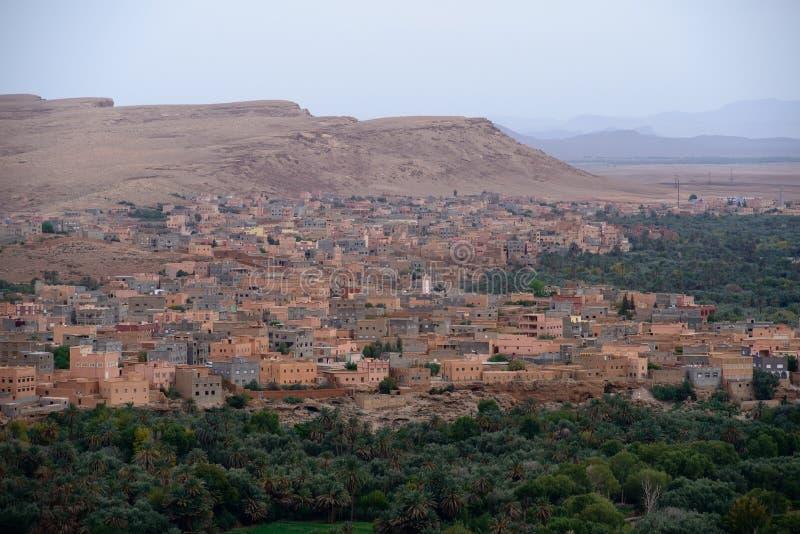 Городок Tinghir, горы атласа, Марокко стоковое изображение