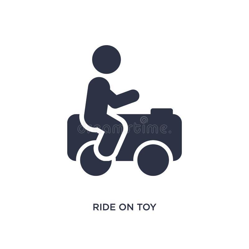 езда на значке игрушки на белой предпосылке Простая иллюстрация элемента от концепции игрушек иллюстрация вектора