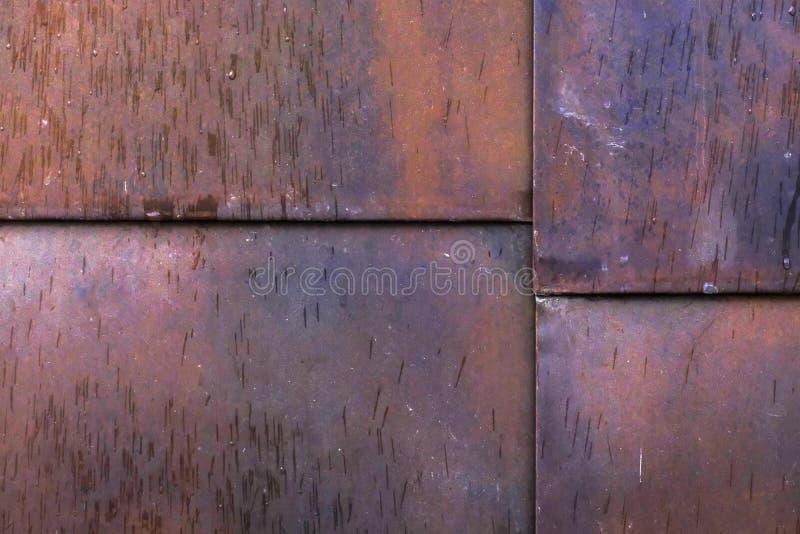 Естественные металлические листы ржавчины, блоки стоковые изображения rf