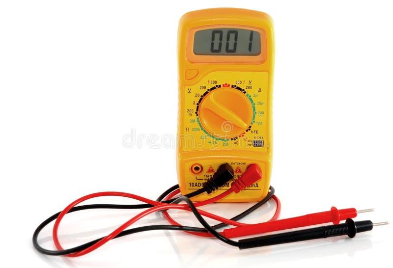 Желтый вольтамперомметр стоковые изображения rf