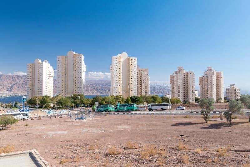 Жилые башни в Eilat стоковое изображение