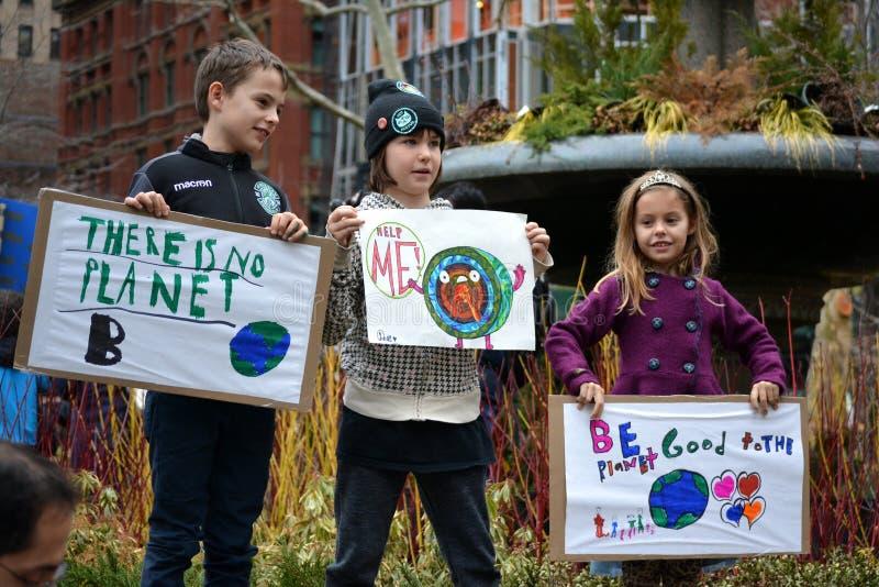 Забастовки климата в Нью-Йорке стоковое фото rf
