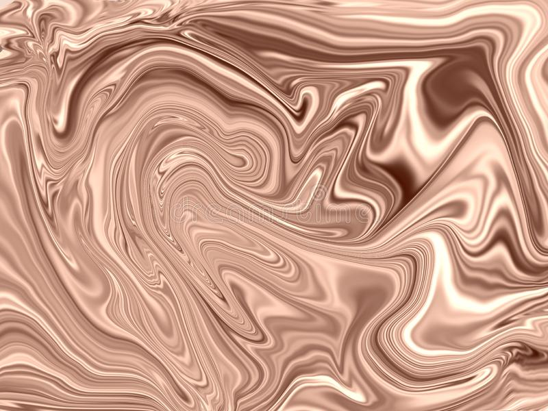 Завихряясь жидкостная картина русых и сливк смешивая для горячего плавит шоколад бесплатная иллюстрация