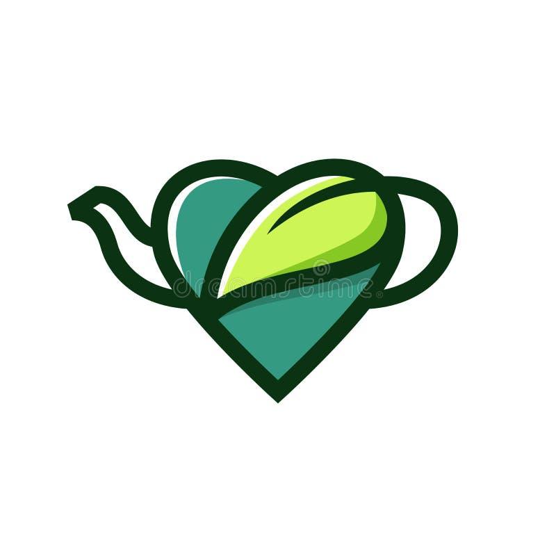 загрузка значка вектора логотипа естественной травы бака любов чая травяная бесплатная иллюстрация
