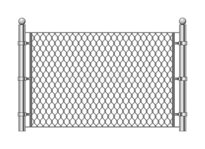 Загородка Chainlink металла бесплатная иллюстрация