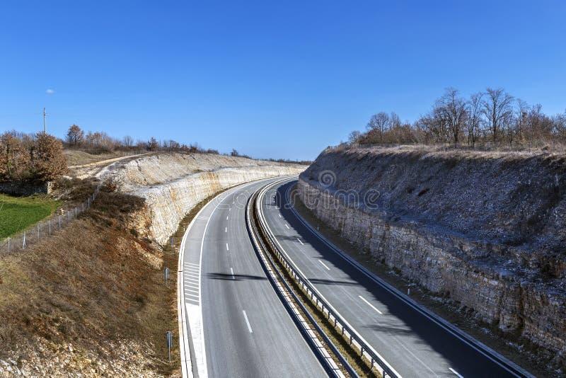 Зазубрина на шоссе стоковое фото rf