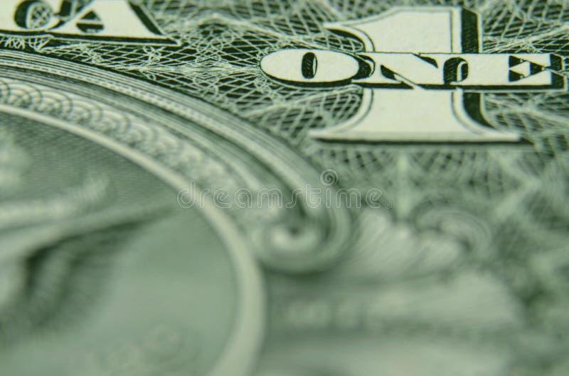 Закройте вверх ОДНОГО и 1 от казначейского билета запаса США Fedreral стоковая фотография