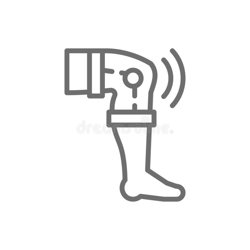 Замена колена, значок совместной линии протеза бесплатная иллюстрация