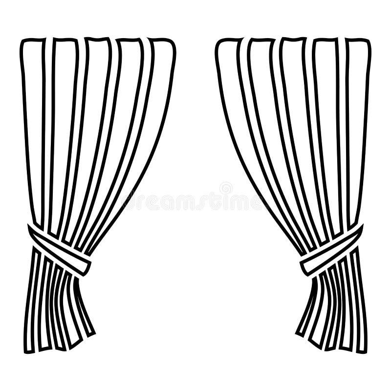 Занавесы ослепляют тень Portiere занавеса шторки занавеса задрапировывают для торжественного открытия занавесов представления цер иллюстрация штока