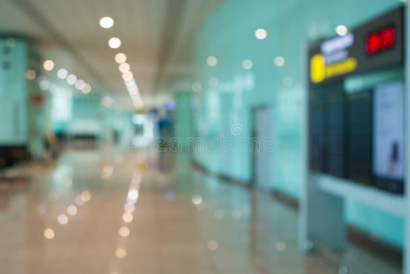Запачканная предпосылка залы аэропорта стоковые изображения rf