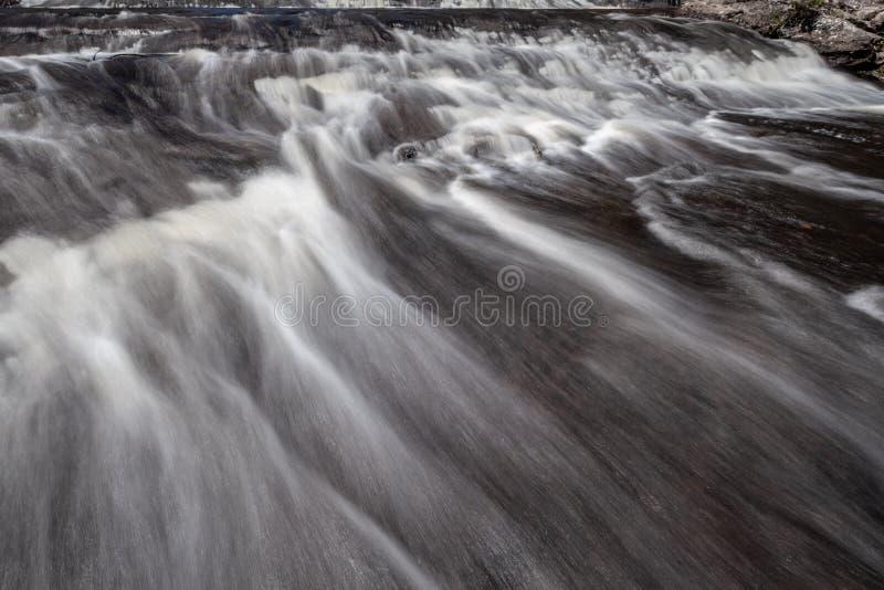 Запачканное движение воды через речные пороги стоковая фотография rf