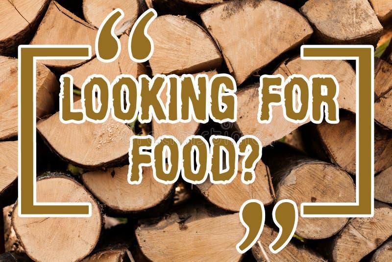 Запись примечания показывая ищущ еда Фото дела showcasing кто-то плохое ищущ что-то съесть или выпить деревянное стоковое фото rf