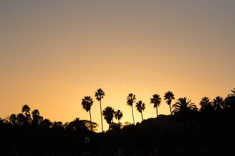 заход солнца Барвары santa стоковая фотография