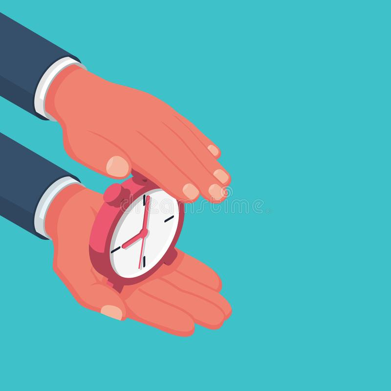 Защитите время Сохраньте принципиальную схему времени бесплатная иллюстрация