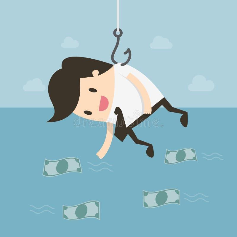заразительные деньги Милая иллюстрация doodle мультфильма иллюстрация штока