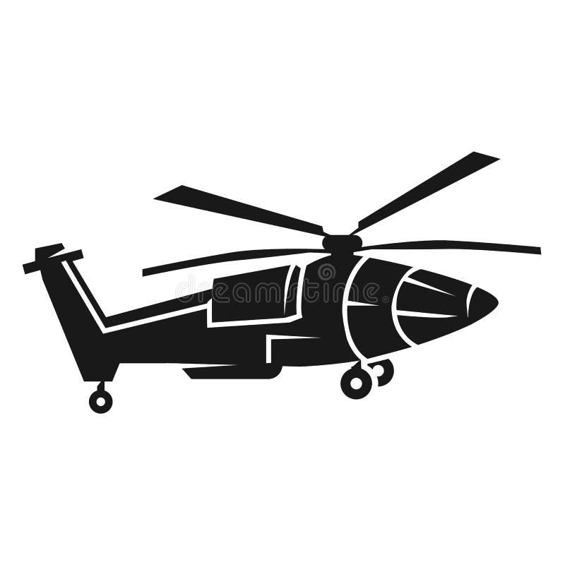 Заостренный значок вертолета, простой стиль иллюстрация штока