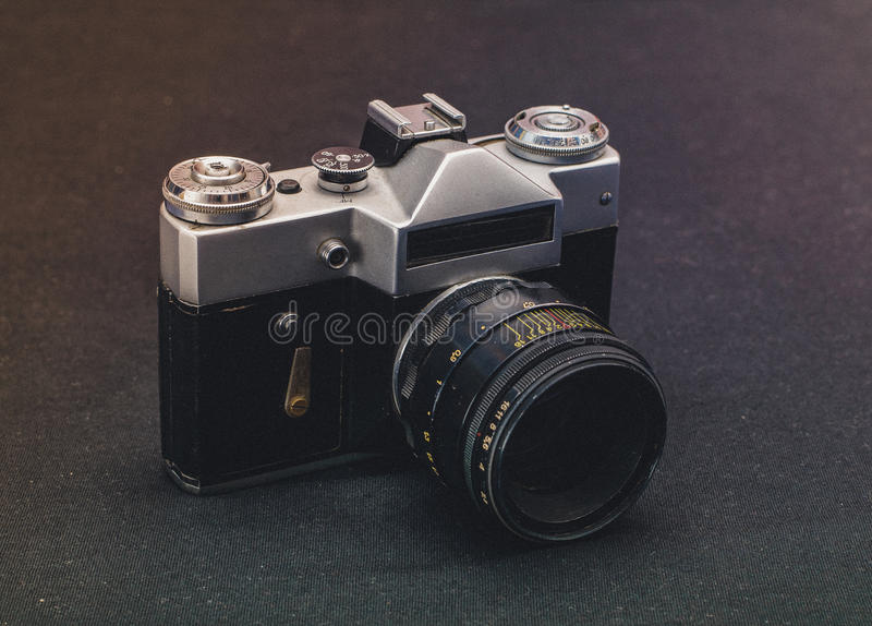Зенит-Е Camera from USSR stock images