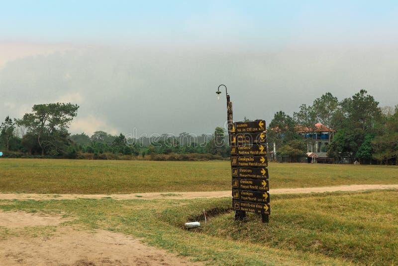Знаки на Phu Kradueng стоковые фотографии rf