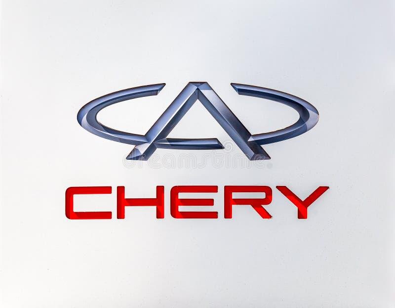 Знак дилерских полномочий автомобиля Chery стоковые изображения rf