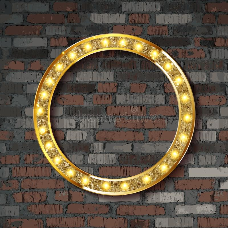 Знак доски круга света шатра вектора иллюстрация штока
