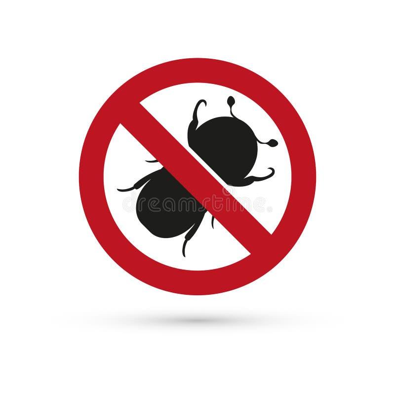Знак стопа насекомого бесплатная иллюстрация