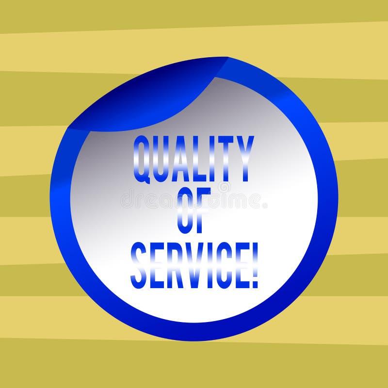 Знак текста показывая гарантированное качество обслуживания Perforanalysisce схематического измерения описания фото общее бутылки иллюстрация штока
