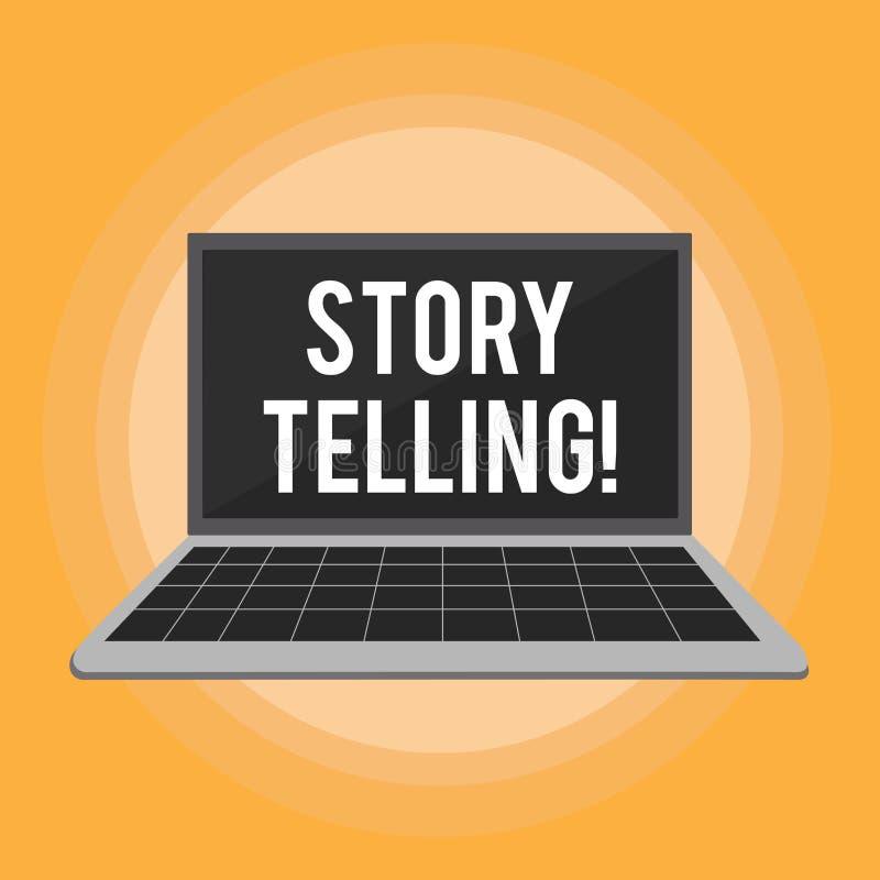 Знак текста показывая говорить рассказа Схематическое фото говорит или пишет рассказы делит личные опыты иллюстрация штока