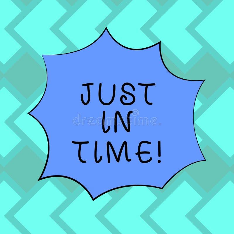 Знак текста показывая как раз вовремя Схематическое фото приезжая точно на ответственности пунктуальности часа цвет необходимой п бесплатная иллюстрация