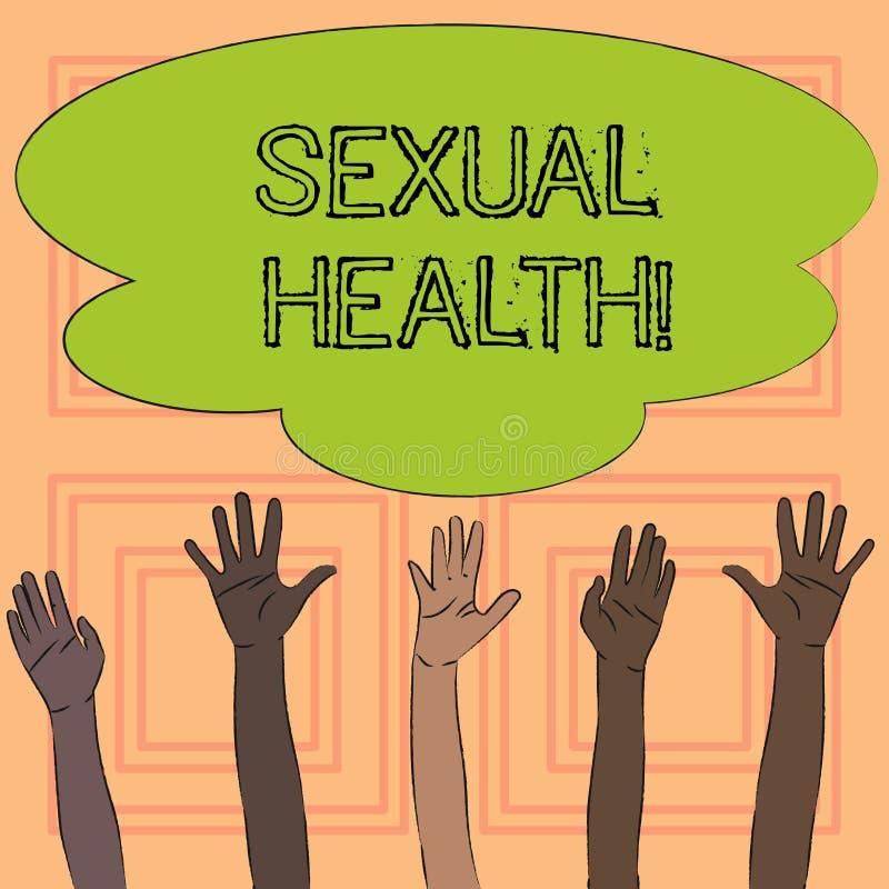Знак текста показывая сексуальное здоровье Забота секса привычек схематического предохранения от пользы предохранения STD фото зд иллюстрация вектора