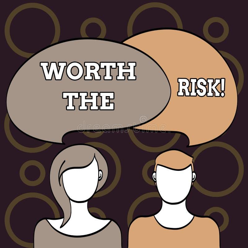 Знак текста показывая стоимости риск Схематическое фото что-то может быть опасно но вы все еще хотите делать его бесплатная иллюстрация