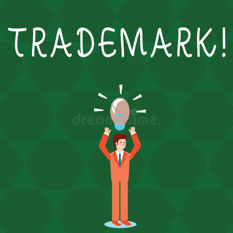 Знак текста показывая товарный знак Схематическое предохранение от интеллектуальной собственности авторского права фото законно з иллюстрация вектора
