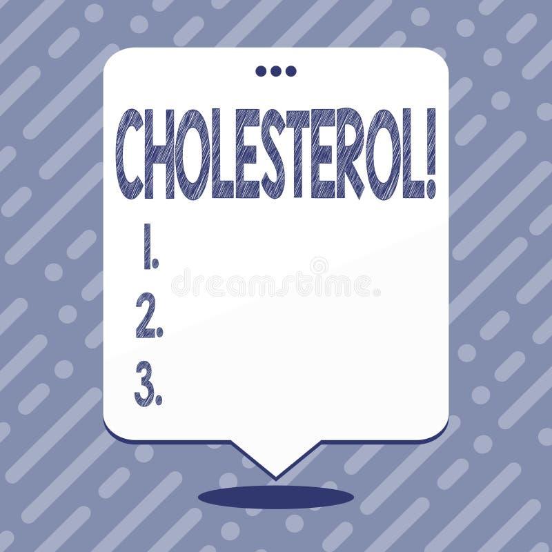 Знак текста показывая холестерол Схематический избыточный вес липопротеина высокой плотности липопротеина низкой плотности фото ж бесплатная иллюстрация