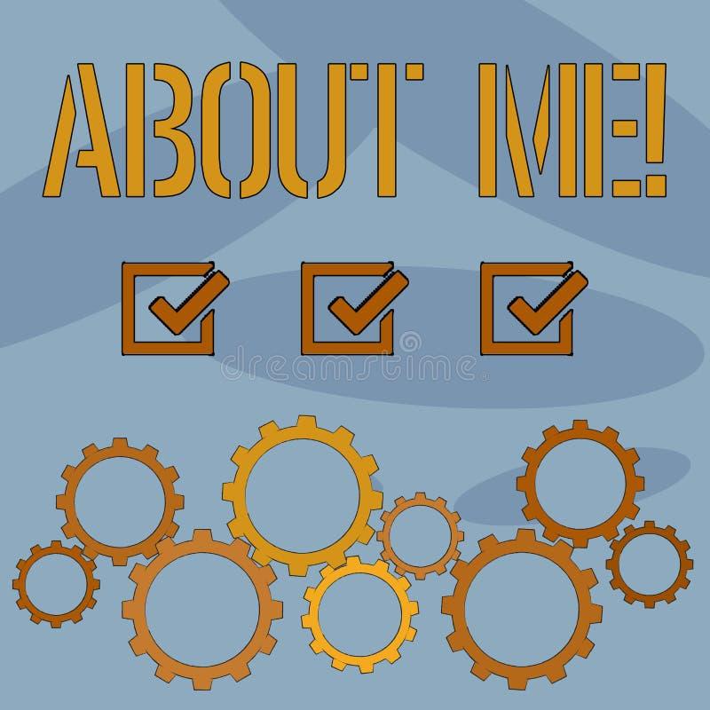 Знак текста показывая обо мне Образ этикета схематического характера ориентации поведения личности фото индивидуальный бесплатная иллюстрация