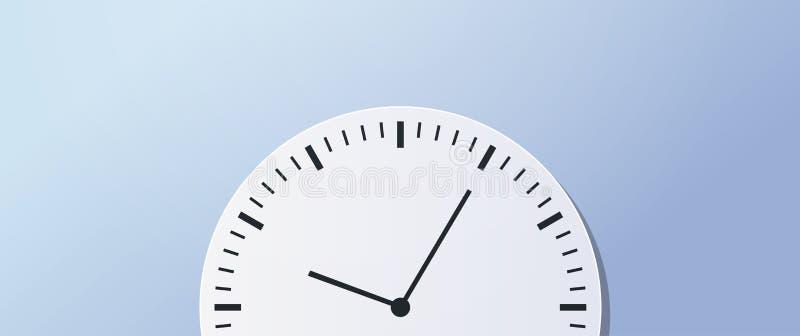 Знамя значка часов круга концепции времени дела крайнего срока контроля времени горизонтальное иллюстрация штока