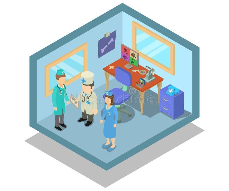Знамя концепции лаборатории, равновеликий стиль иллюстрация вектора
