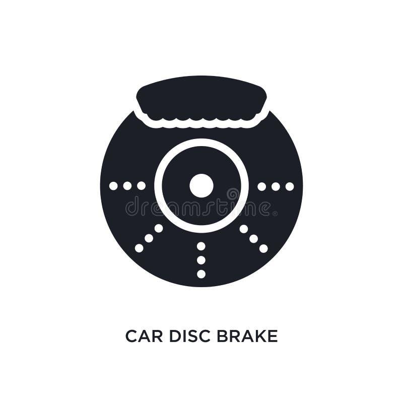 значок автомобиля изолированный тарельчатым тормозом простая иллюстрация элемента от значков концепции частей автомобиля символ з иллюстрация штока