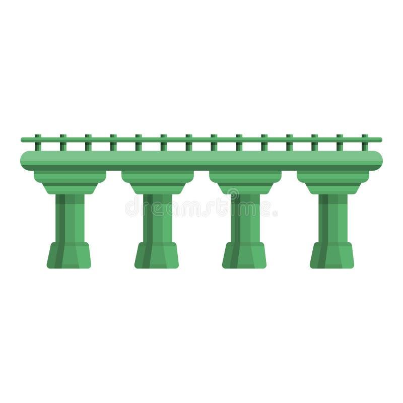 Значок автодорожного моста, стиль мультфильма иллюстрация вектора