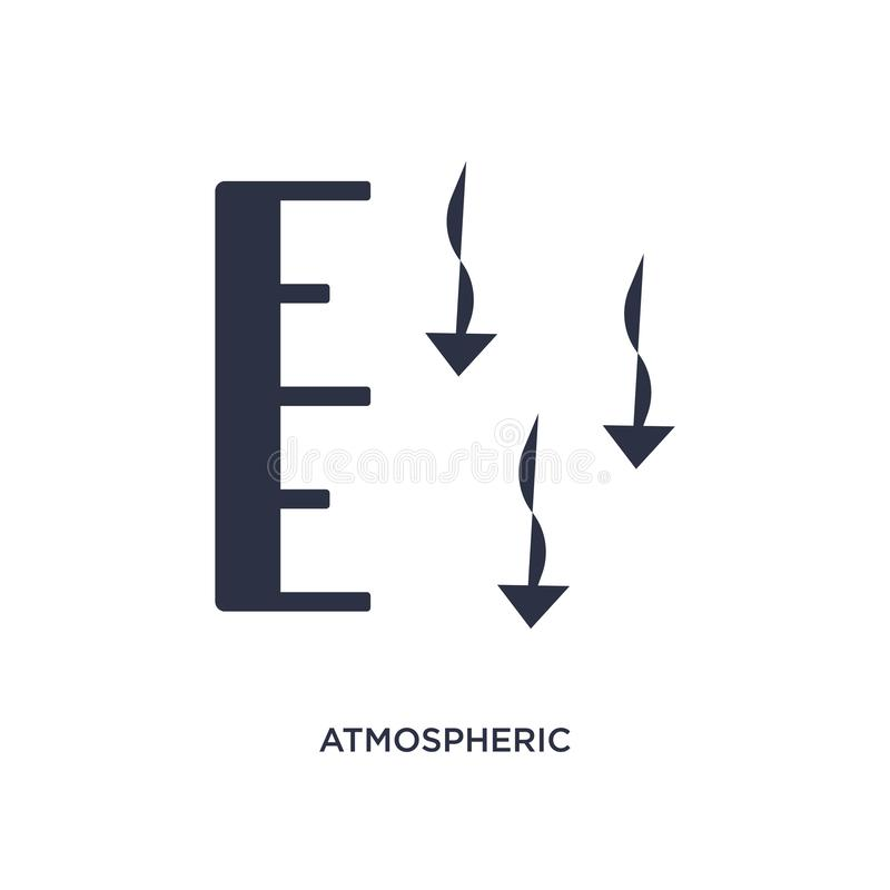значок атмосферного давления на белой предпосылке Простая иллюстрация элемента от концепции погоды иллюстрация вектора
