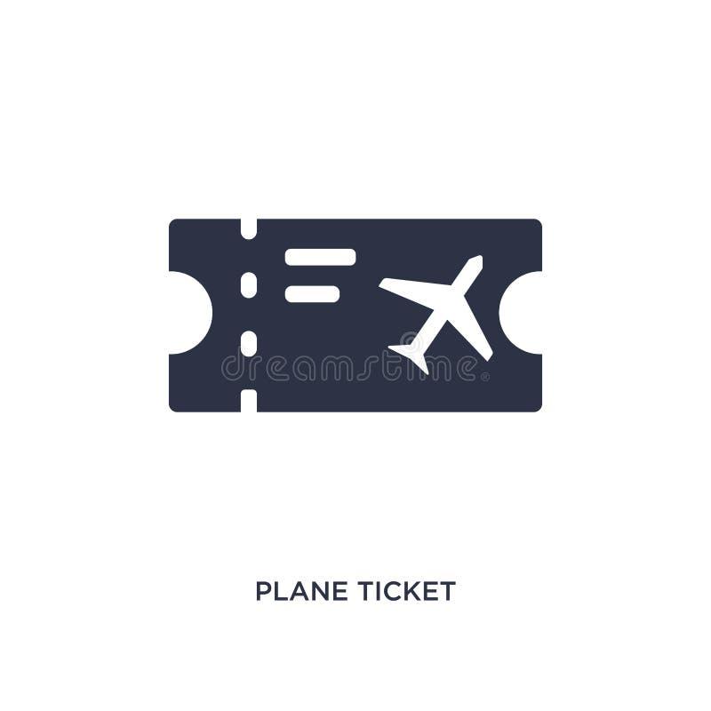 Значок билета на самолет на белой предпосылке Простая иллюстрация элемента от концепции лета бесплатная иллюстрация