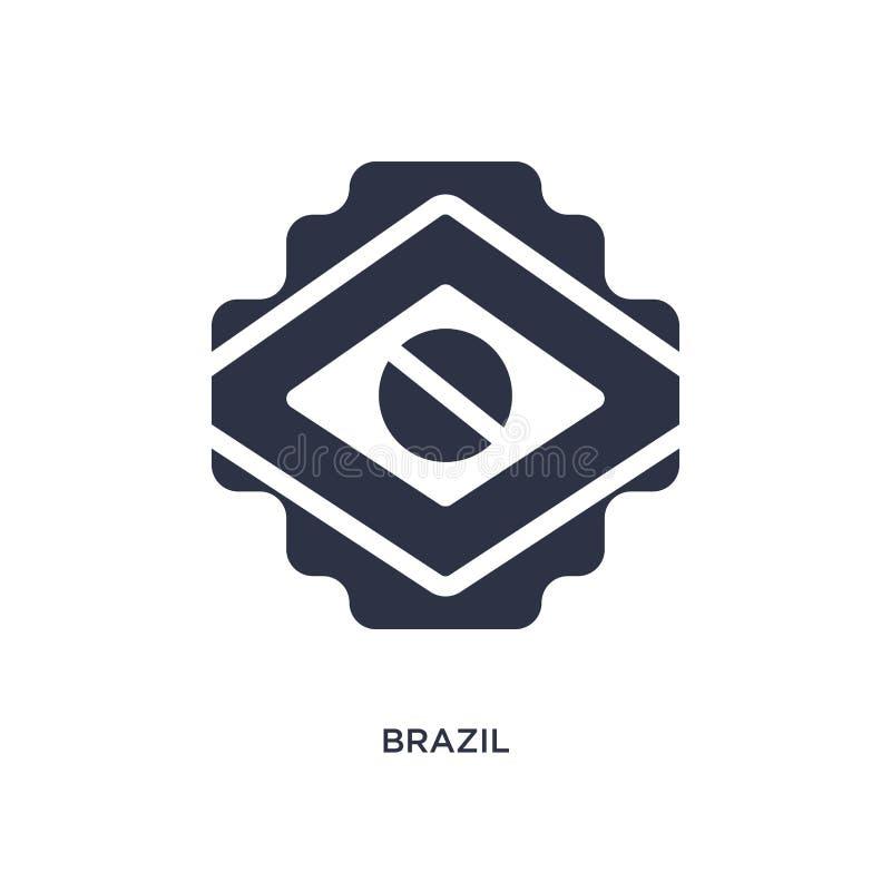 значок Бразилии на белой предпосылке Простая иллюстрация элемента от концепции brazilia иллюстрация вектора