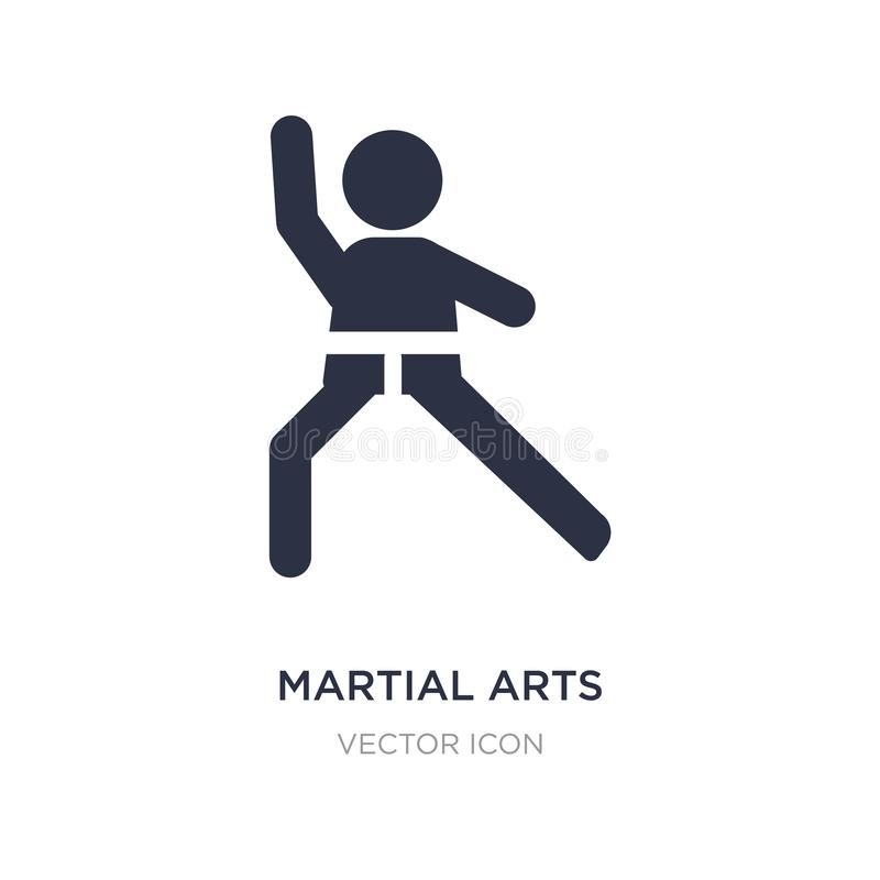 значок боевых искусств на белой предпосылке Простая иллюстрация элемента от концепции людей бесплатная иллюстрация